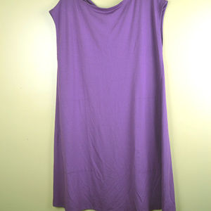 Eileen Fisher Women's Purple Sleeveless Dress